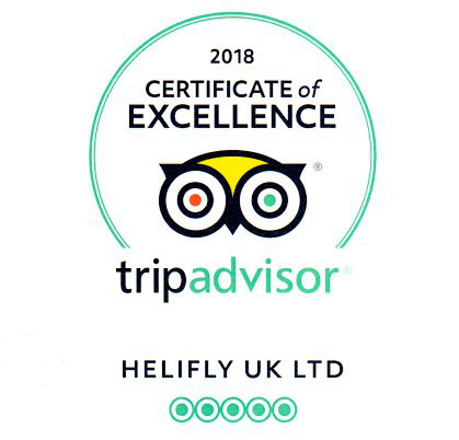 HeliFly were awarded a TripAdvisor Certificate of Excellence on 2016